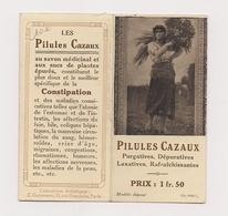 CALENDRIER 1914 - PILULES CAZAUX - - Calendriers