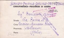 CORRISPONDENZA ITALIANA PRIGIONIERI DI GUERRA. CIRCULATED 1943 SOUTH AFRICA TO MILANO, ITALY. FULL CONTENT INSIDE -LILHU - Non Classés