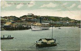 MACAO CARTE POSTALE -CENTRAL CITY HARBOUR - - Cartes Postales