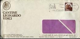 51357 Italia, Circuled Cover 1981 Vinci, Special Postmark Slogan Leonardo Da Vinci - Arte