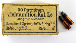 Boite Vide De Cartouches 5,6mm Allemandes  WW2 - Inerte - 1939-45