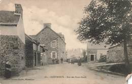 22 Coetmieux Rue Des Ponts Neufs Cpa Carte Animée , Voir état Ci Dessous - Otros Municipios