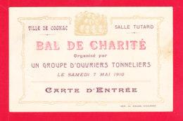Vieux Papiers-89Ph103  COGNAC, Bal De Charité Organisé Par Un Groupe D'ouvriers Tonneliers, 7 Mai 1910 - Vieux Papiers