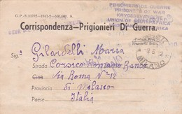 CORRISPONDENZA ITALIANA PRIGIONIERI DI GUERRA. CIRCULATED 1942 SOUTH AFRICA TO MILANO, ITALY. FULL CONTENT INSIDE -LILHU - Non Classés