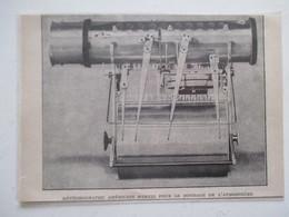 """Météographe Américain """"MARVIN"""" Pour Sondage D'atmosphère   -  Coupure De Presse De 1921 - Littérature & Schémas"""
