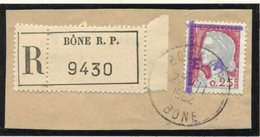 Etat Algérien - EA - Alger - Oblitéré - Fragment - Bône - Barres Et Sigle Violet - 1962 - Gebruikt