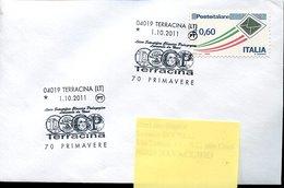 51360 Italia, Special Postmark 2011 Terracina, On Circuled Cover , School Leonardo Da Vinci - Arte