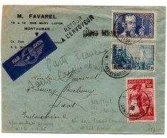 Lettre Par Avion Pour L'Indochine Avec Bel Affranchissement - 1921-1960: Moderne