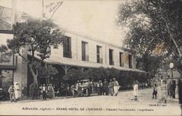 CPA Algérie Affreville Grand Hôtel De L'Univers Edouard Palomarès Propriétaire Dos Repiquage Facture - Argelia