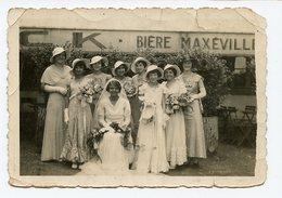 Femme Woman Mariage Mariée Bière Maxeville 30s - Personnes Anonymes