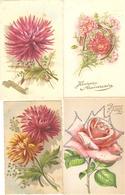 LOT 02 - 80 Cartes CPA , GREETINGS , FLOWERS , PERIOD 1920-1970 - Postkaarten