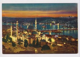 TURKEY  - AK 373193 Istanbul - The Mosque Of Suleiman The Magnificent - The Golden Horn And Atatürk Bridge - Turkey