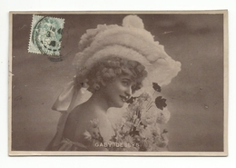 FEMMES - FRAU - LADY - Jolie Carte Fantaisie Jeune Femme    GABY  DESLYS - Femmes