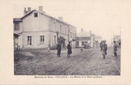 Environs De Riom Cellule La Mairie Et La Place Publique - Riom
