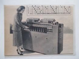 Machine à Recensement Américaine   -  Coupure De Presse De 1950 - Autres