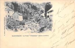 """MARTINIQUE -  Le Fond """" Printemps """" ( Banlieue De ST PIERRE ) CPA Précurseur - Antilles Françaises - Caraïbes - Martinique"""