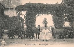 """Cpa 78 Haras Du Perray  """"Yearling """" - Francia"""
