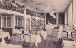 Ostende Littoral Palace Hôtel Le Restaurant Circulée En 1921 - Oostende