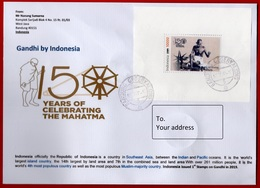 #1- Indonesia 2019. A Letter To Your Address. Cover. 150 Anniversary Of Mahatma Gandhi - Indonesien