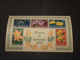 BARBADOS - BF 1970 FLORA  - NUOVI(++) - Barbados (1966-...)