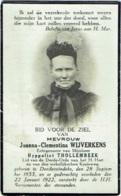 Doodsprentje/Image Mortuaire. Wijverkens/Thollembeek. Denderwinkel 1855/1922 - Imágenes Religiosas