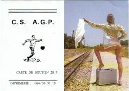 Calendrier Erotique. Femme Nue. C.S.  A.G.P. Carte De Soutien. 1985 - Petit Format : 1981-90