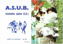 Calendrier Erotique. Chat. A.S.U.B.(Association Sportive U.L.B.). Carte De Soutien. 1982 - Petit Format : 1981-90