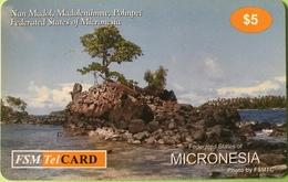 """MICRONESIE  -  Prepaid  -   """" FSMTelCARD  """"  -   """" Nan Madol """"    $5 - Micronesië"""