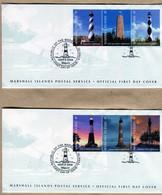 Marshall Isole 2 FDC 2008  Lighthouses  Nuovi - Islas Marshall