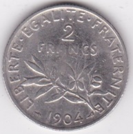 2 Francs Semeuse 1904, En Argent - France