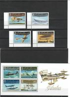 Gibraltar - 2010 - Airplane Set + S/S - MNH (**) - Face Value 6,05 GBP - Airplanes