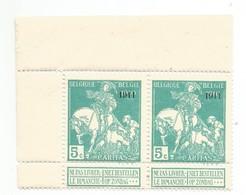 OCB 97 ** Postfris Zonder Scharnier In Blok Van 2 Met Velrand - 1910-1911 Caritas