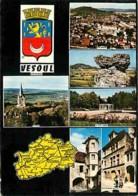 70 - Vesoul - Multivues - Blasons - Carte Géographique - Voir Scans Recto-Verso - Vesoul