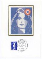 Carte-Maximum 1994 - Marianne Du Bicentenaire 1994 (Briat) - 2,00 F Bleu - YT 2889 - Paris - 1990-99