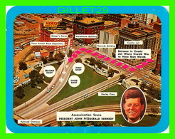 DALLAS, TX - ASSASSINATION SCENE PRESIDENT JOHN FITZGERALD KENNEDY, 1963 - DIMENSION 13.5 X 17 Cm - - Dallas