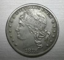Riproduzione Di Moneta, USA 1878 Morgan Goloid 100 Cents Dollar (pos.A10.65) NO ARGENTO, FAKE, FALSE - America Centrale