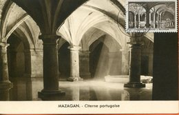 "Maroc, FDC 1955 , Carte Maximum;TP N°360 "" Citerne Portugaise,Mazagan ""Morocco;Marruecos - Cartas"