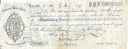 Mandat à L'Ordre 1877 - Fabrique D'Huile D'Olive Ciniès Frères à Salon - Francia
