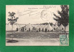 02 / CAMP DE SISSONNE Ensemble Des Tentes/ ANIMEE +CPA  Année 1907  EDIT Ruet Fréres - Sissonne