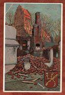 Domnau, Kirche, Germania, Greifswald Nach Berlin 1917 (90751) - Ostpreussen
