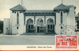 """Maroc, FDC 1955,carte Maximum;TP N°343 """" Journée Du Timbre """" Mazagan ; Morocco;Marruecos - Cartas"""
