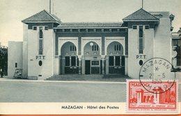 "Maroc, FDC 1955,carte Maximum;TP N°343 "" Journée Du Timbre "" Mazagan ; Morocco;Marruecos - Briefe U. Dokumente"