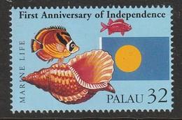 PALAU - N°840 ** (1995) Coquillages / Shells - Palau