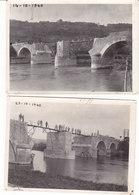 Pont De Nanteuil ,3 étapes De La Reconstruction Du 14/10 Au 6/11/1940, 3 Photos,3 Scans - Autres Communes