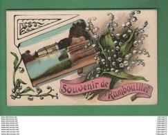 C.P.A  DE  RAMBOUILLET   ----- SOUVENIR  DE  RAMBOUILLET -----------AVEC DU MUGUET ----------- - Rambouillet