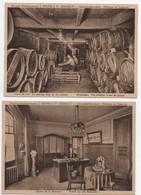 Lot CPA FABRIQUE LIQUEURS FRYNS HASSELT, Distillerie Malteries, CAVES VIN Wijnkelders,bureau, Tonneaux Métier, Artisanat - Hasselt