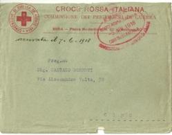 1918 (5-6) Regno D'Italia C.R.I.Lettera In Franchigia-Commissione Prigionieri Di Guerra Per Como, Timbro Ovale Datario C - 1939-45