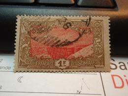 Timbre Côte Française Des Somalis 1 Franc  Oblitéré - Côte Française Des Somalis (1894-1967)