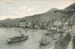 Suisse Montreux Quai Bateau Vapeur Cpa Edit Chapallaz - VD Vaud