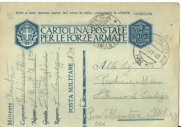 1941 (11-5) Regno D'Italia C.F.(C.C.13/2) Da P.M.83 (Jugoslavia P.6) Per Piubega (Mn), 80�Rgt.Fanteria Pasubio - 1939-45